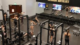 University of Colorado Boulder Cheerleaders Work Out