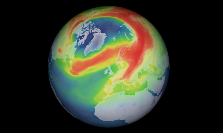 Unusual Arctic Ozone Hole