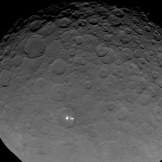 Up Close View of Ceres Bright Spots