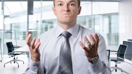 Upset Angry Office Worker