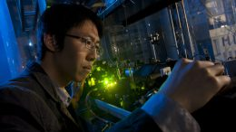 Using an ultraviolet laser to create a Rydberg atom to study the orbital mechanics of electrons