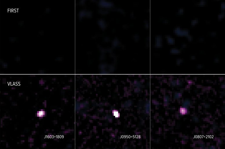 VLA Three Galaxies FIRST VLASS