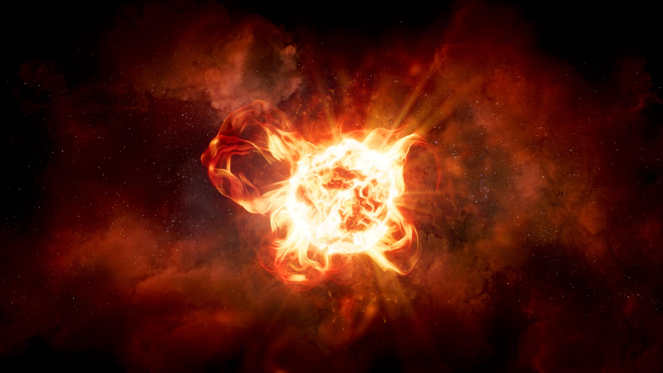 Hubble Solves Mystery of Monster Star's Dimming – Red Hypergiant Is As Bright as 300,000 Suns