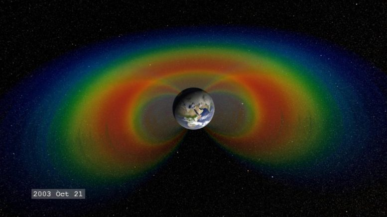 Van Allen Belts Around Earth