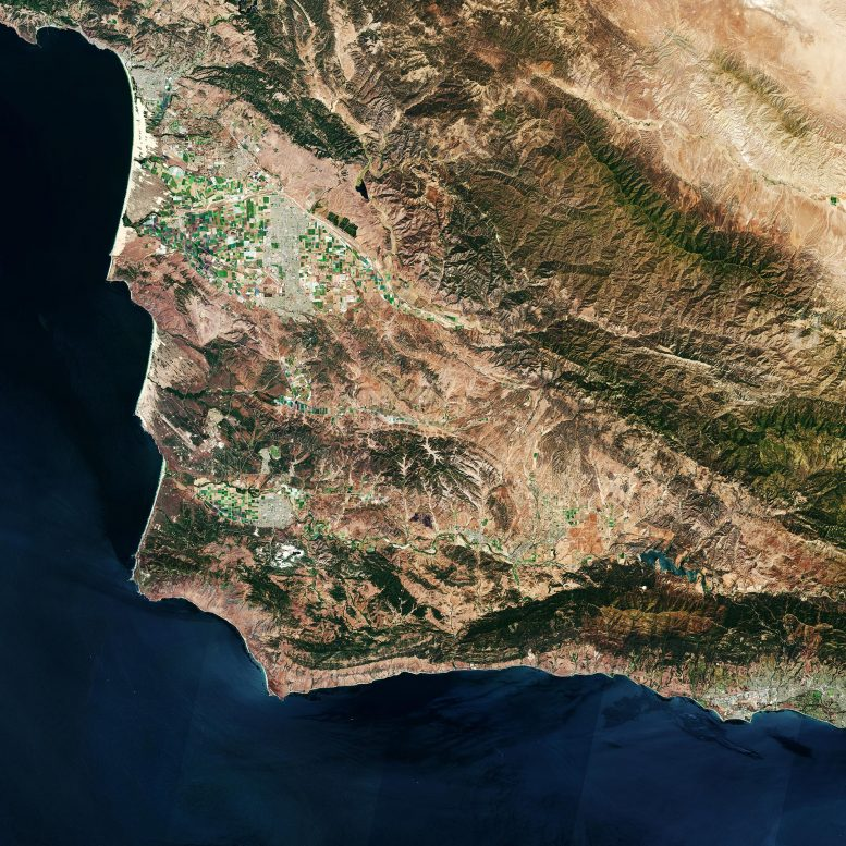 Vandenberg Air Force Base From Space