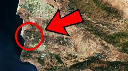 Vandenberg Air Force Base From Space Arrow