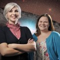 Vanderbilt astronomers Kelly Holley-Bockelmann and Lauren Palladino