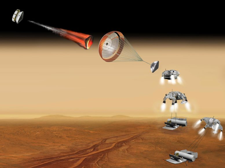Vehicle for Lofting a Sample Approaches Mars