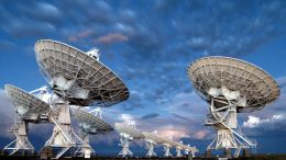 Very Large Array Cloudy Twilight