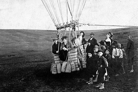 Victor Hess in the basket of one of his balloons