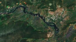 Victoria Falls From Space
