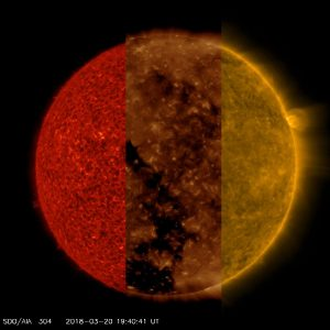 View The Sun In Three Different Wavelengths