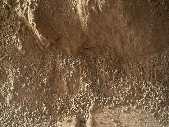 View of Cross-Section Through a Mars Ripple