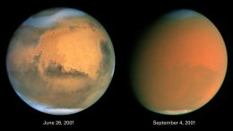 View of Dust Storms on Mars