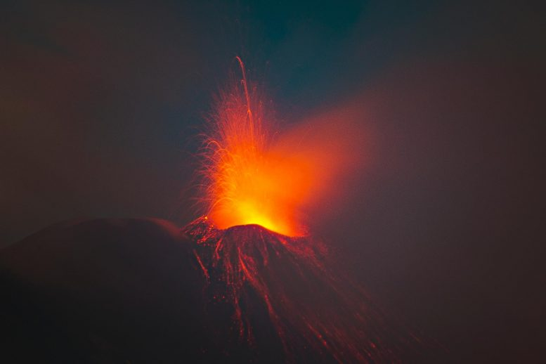 Volcano Spewing Lava