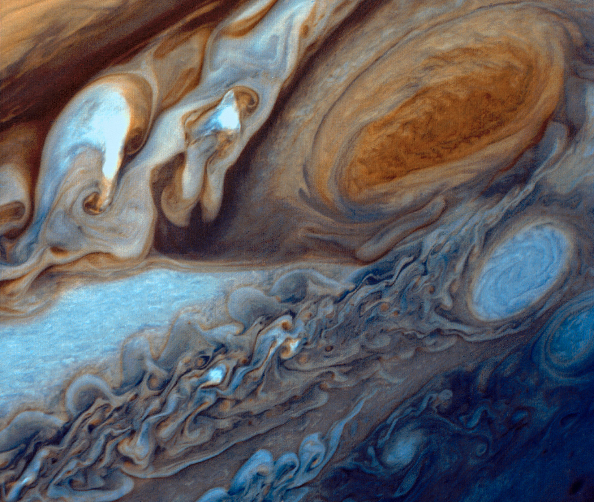 NASA Image of the Day - Jupiter's Great Red Spot Viewed by Voyager I