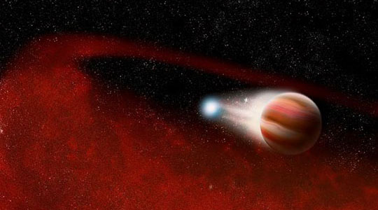 WISE Discovers Mystery Dust Around a Dead Star