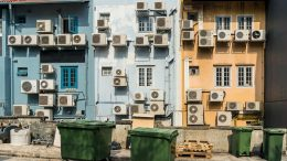 Wall of Air Conditioners