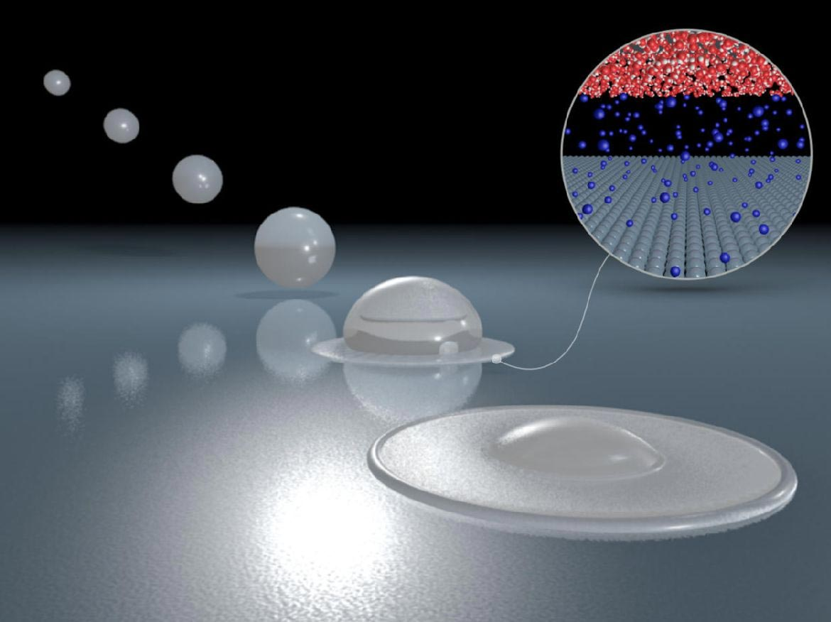 Scientists Can Finally Explain Why Some Water Droplets Bounce Off Surfaces, Without Ever Actually Touching Them - SciTechDaily