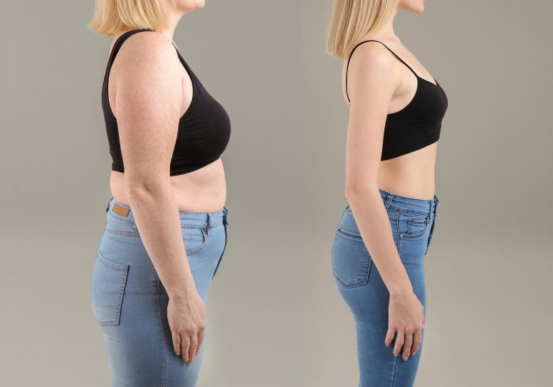 Weight Loss Concept Before and After