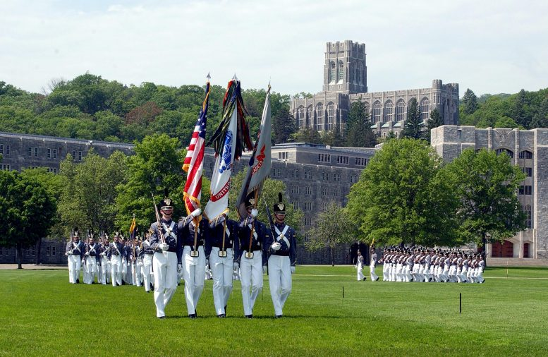 West Point Cadet Color Guard on Parade