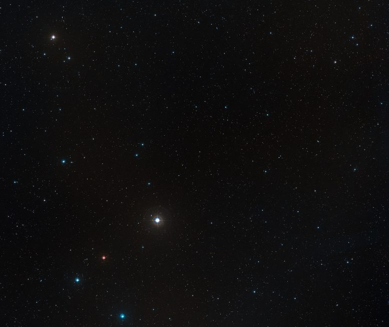 Wide-Field View of the Sky Around the Quasar P172+18