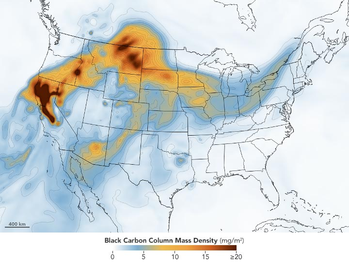 Wildfire Smoke August 25 2020 Annotated