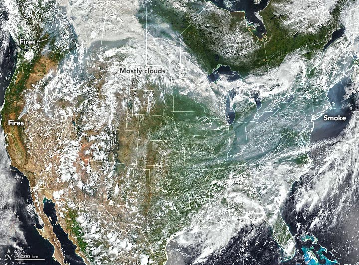 Wildfire Smoke Western North America July 2021 Annotated