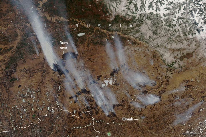 Wildfires and Smoke in Siberia April 2021 Annotated