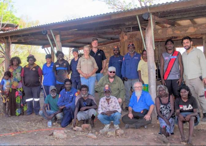 Wilton River Rock Art Survey Team at Korbbolyu Outstation