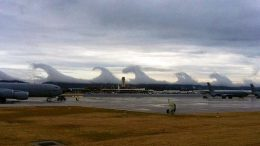 Wind Shear Makes Tsunami Shaped Clouds