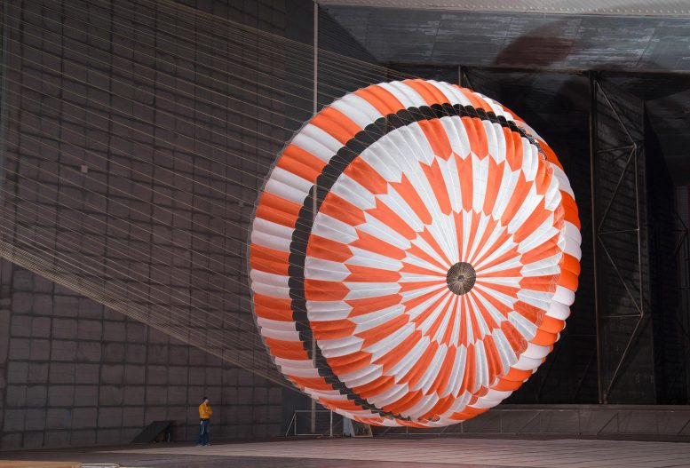 Wind Tunnel Test Perseverance Rover Parachute