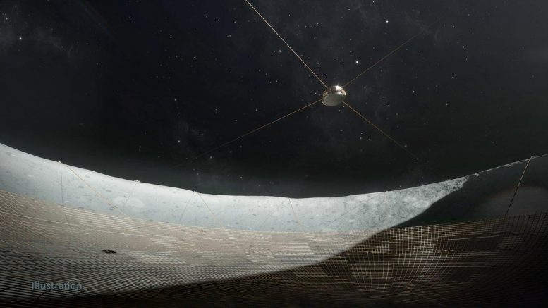 Wire Mesh Dish Moon Crater