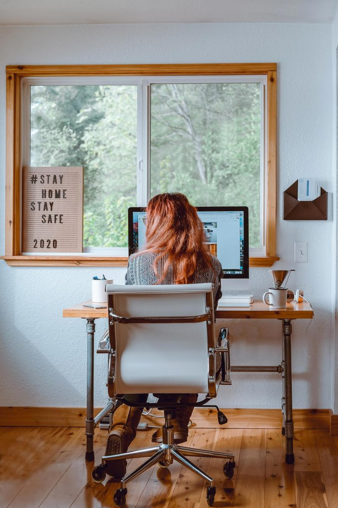 Woman Home Office