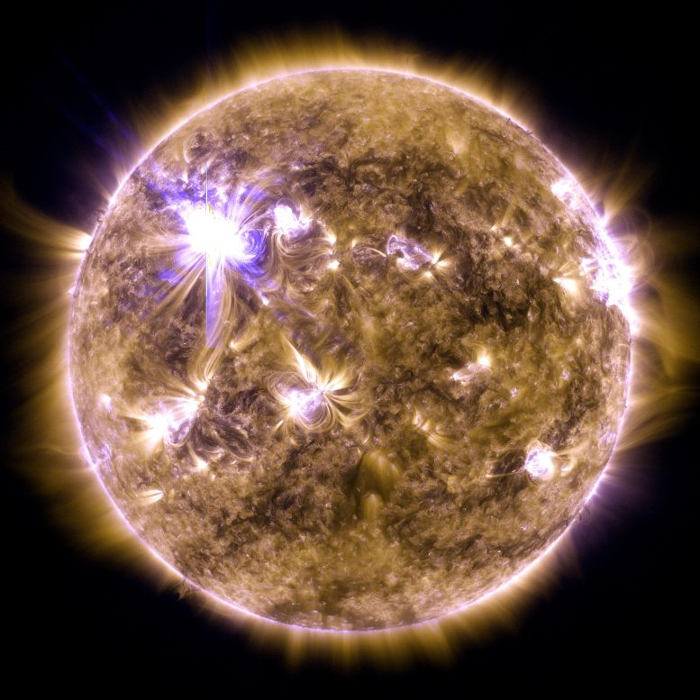 X-Class Solar Flare Flashes