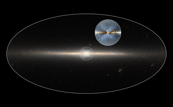 X Shape Marks Milky Way's Central Bulge of Stars