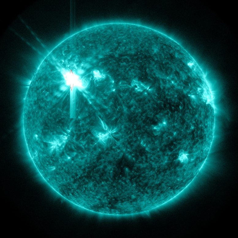 X-Class Solar Flare Flashes 131A