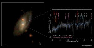 XMM-Newton Reveals High-Speed Gas from Seyfert Spiral Galaxy