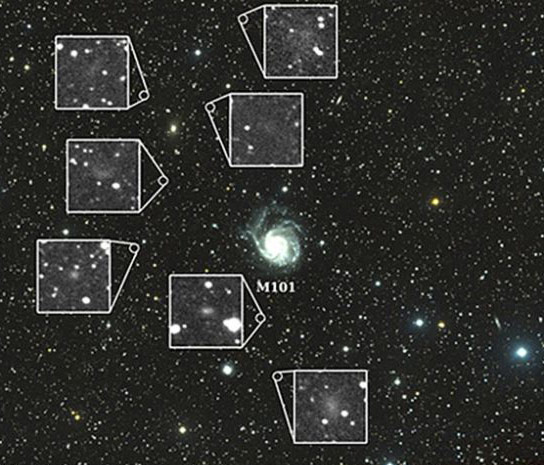 Yale Astronomers Discover Seven Swarf Galaxies