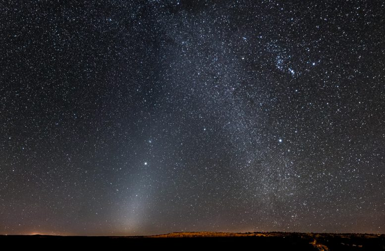 The zodiacal light and the Milky Way