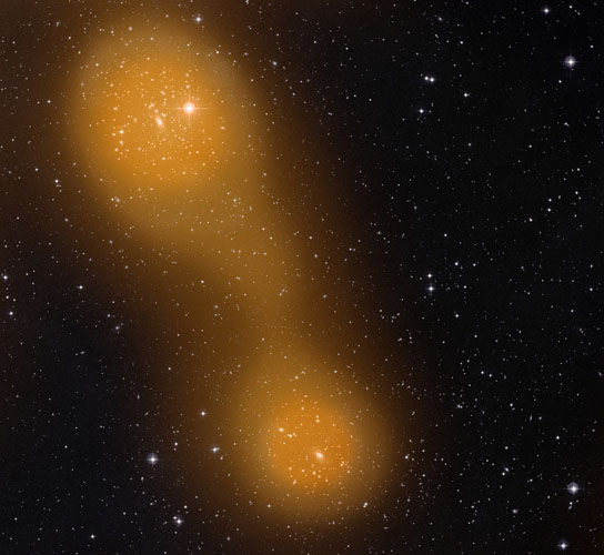 a bridge of hot gas that connects galaxy clusters