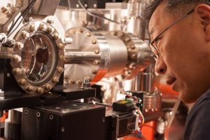 """Yiping Feng and the SRD X-RAY """"Single Shot"""" detector in LCLS's FEE Hall"""