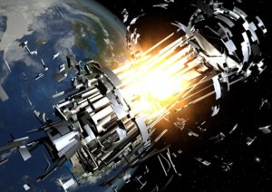 about 200 explosions and at least 5 collisions in space have occured