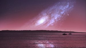 andromeda-milky-way-sea