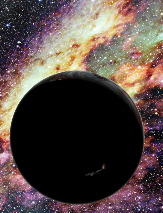 artist's conception of a runaway planet