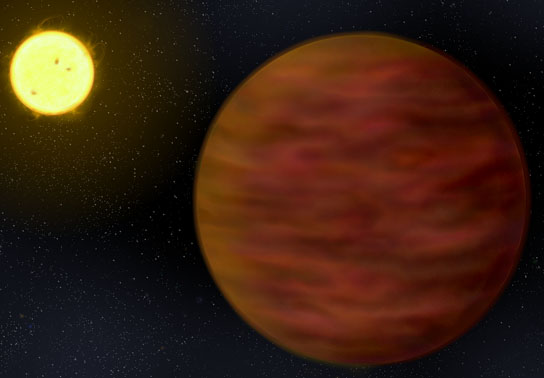 artist's impression shows BD+01 2920B in the foreground