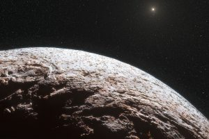Artist's impression of the surface of the dwarf planet Makemak