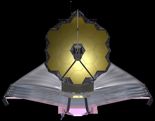 artist-conception-of-NASA's-James-Webb-Space-Telescope