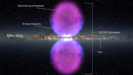 artist's concept of giant Fermi bubbles