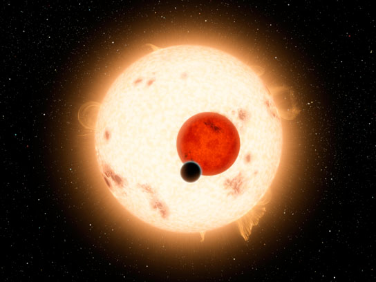artist's conception of the Kepler-16 system
